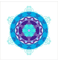 Abstract round snowflake vector