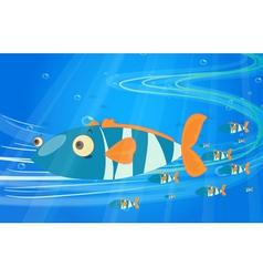 School of fish in the sea vector image