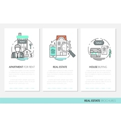 Real estate business brochure template vector
