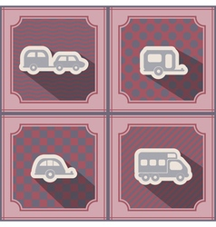 Seamless background with trailers vector image