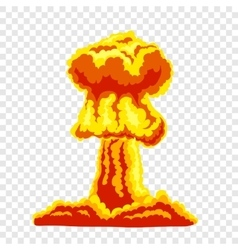Mushroom cloud sign vector