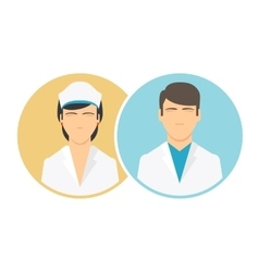 Medical clinic staff flat icons vector