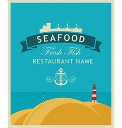 Restaurant or seafood store vector