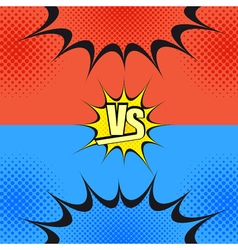 Versus wording comic fight template vector image