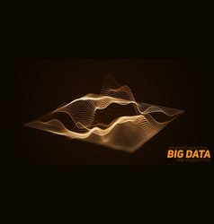 Abstract 3d big data plot visualization vector