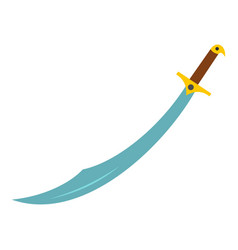 arabian scimitar sword icon isolated vector image vector image
