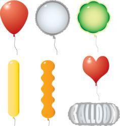 balloon variation vector image vector image