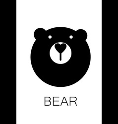 bear animal template vector image vector image