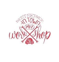 Best workshop red vintage stamp vector
