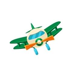 Biplane toy aircraft icon vector