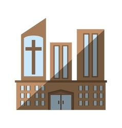 Building church religious sacred icon vector