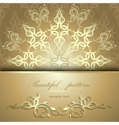 Calligraphic pattern with butterflies vector image vector image