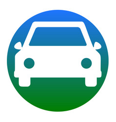 car sign white icon in vector image
