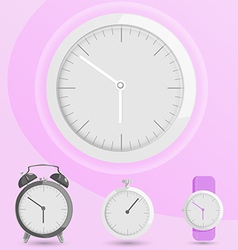 Clock alarm watch vector image vector image