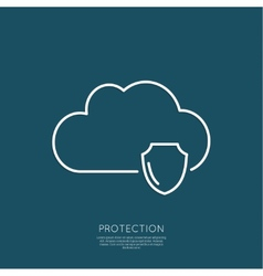 Cloud Security Concept vector image vector image