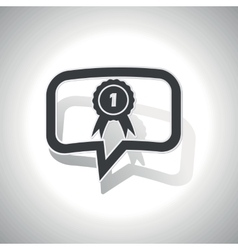 Curved 1st place message icon vector