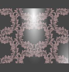 Damask pattern handmade vector
