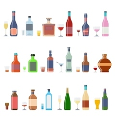 Drinks and beverages icon set vector image vector image