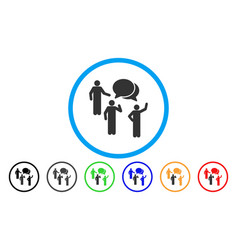 forum rounded icon vector image