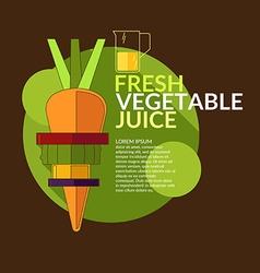 Fresh vegetable juice for design website infogr vector