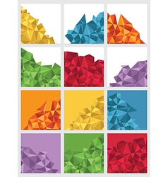 geometric squares vector image