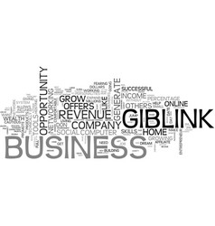 Giblink offers online wealth no skills required vector