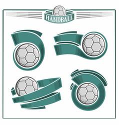 handball balls vector image