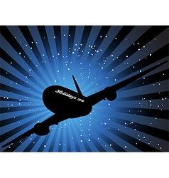 Holidays 2016 aircraft vector image vector image