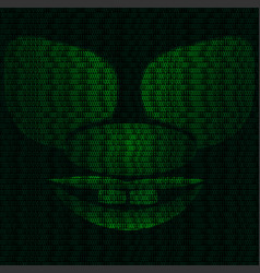 mask of the grotesque cyber clown vector image vector image