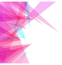 Modern abstract bright colorful triangular vector image