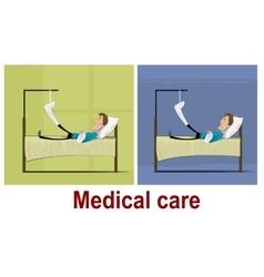 Patients with broken leg vector image
