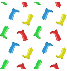 rainboots seamless pattern vector image