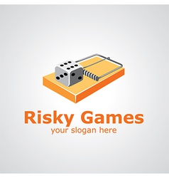 risky games vector image vector image