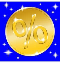 sale gold button vector image