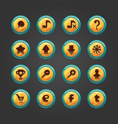 Set of button for game design-2 vector image vector image