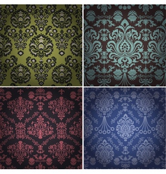 Set of vintage patterns vector image
