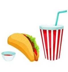 taco set vector image