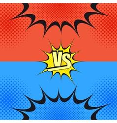Versus wording comic fight template vector