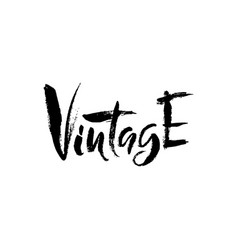 Vintage hand drawn dry brush lettering ink vector