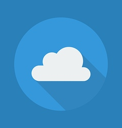 Weather Flat Icon Cloudy vector image vector image