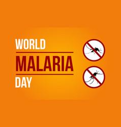 World malaria day sign vector