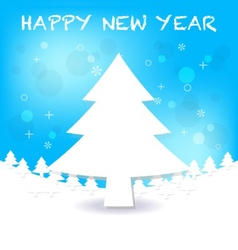Merry christmas and happy new year greeting vector