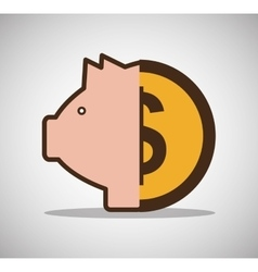 Piggy money currency cash icon vector