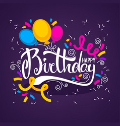 Glossy and shine birthday card templatewith vector
