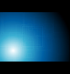 Dark blue tech squares geometric background vector