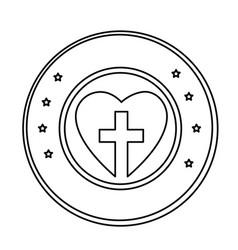 Christian cross symbol icon vector