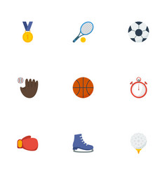 Flat icons ball ice boot glove and other vector