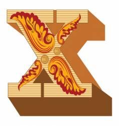 3d vintage letter x vector image vector image