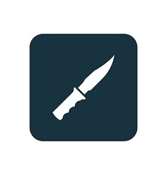 Knife icon rounded squares button vector