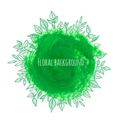 Floral stain background vector